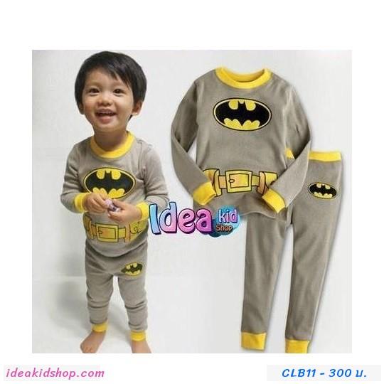 ชุดนอนเด็ก BATMAN รุ่นจิ๋ว สีเทา