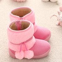รองเท้าบูท-ชาวเอสกิโม-สีชมพูอ่อน
