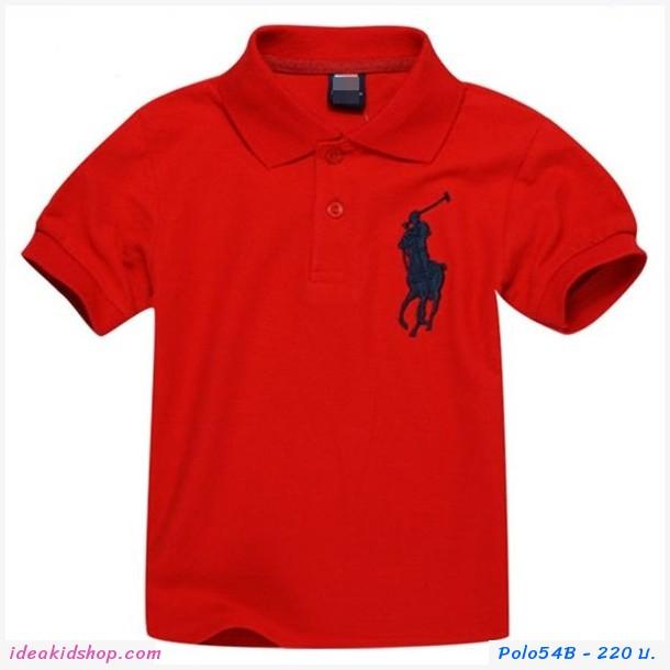 เสื้อยืดโปโล Ralph Lauren No.3 สีแดง