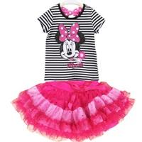 ชุดเสื้อกระโปรง-Mickey-Mouse-ยิ้มหวาน-สีขาวดำ