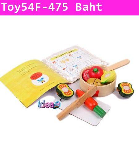 ชุดของเล่นไม้พร้อมนิทาน Cooking Lessons
