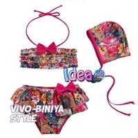 ชุดว่ายน้ำ-2-pieces-flower-pink
