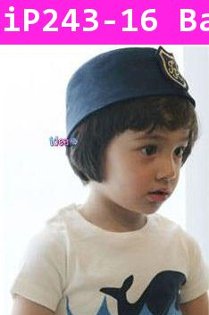 หมวกเด็กทรง นาวิกตัวน้อย สีน้ำเงิน
