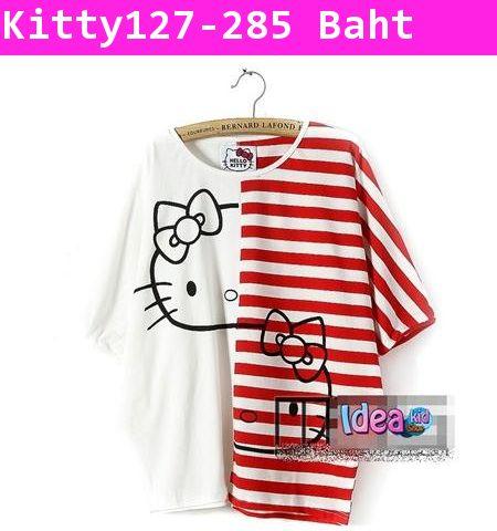 เสื้อ Twins Kitty สีแดง