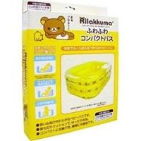 อ่างอาบน้ำเด็กพกพา-Rilakkuma-Bathing-สีเหลืองใส