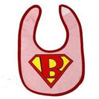 ผ้ากันเปื้อนเบบี้-Super-Baby-สีชมพู
