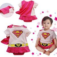 บอดี้สูทเบบี้-supergirl-สีชมพู