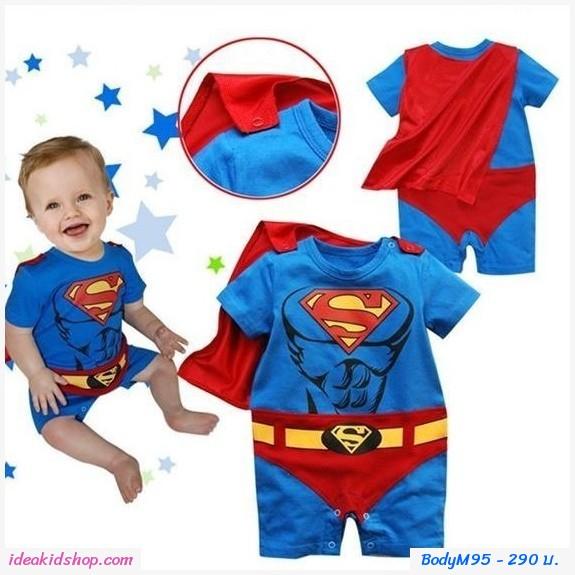 ชุดบอดี้สูท SICK PACK SUPERMAN  สีน้ำเงินแดง