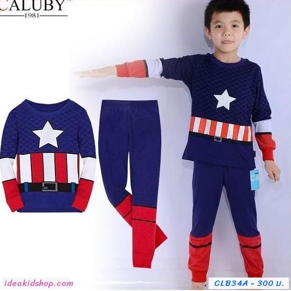 ชุดเสื้อกางเกง Captain America