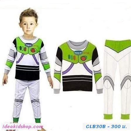 ชุดเสื้อกางเกง Buzz Lightyear โทนขาวเขียว