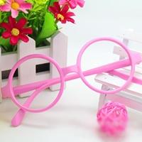 กรอบแว่นตาเด็กเนิร์ด-สีชมพู