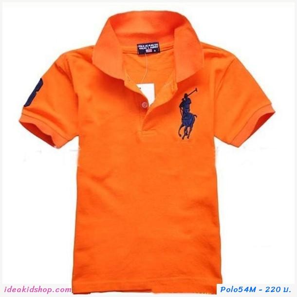 เสื้อยืดโปโล Ralph Lauren No.3 สีส้ม