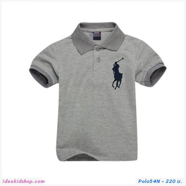 เสื้อยืดโปโล Ralph Lauren No.3 สีเทา