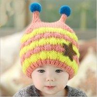 หมวกไหมพรม-บีบี-สีชมพู