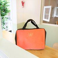 Travel-Partition-Bag--สีชมพูแดง