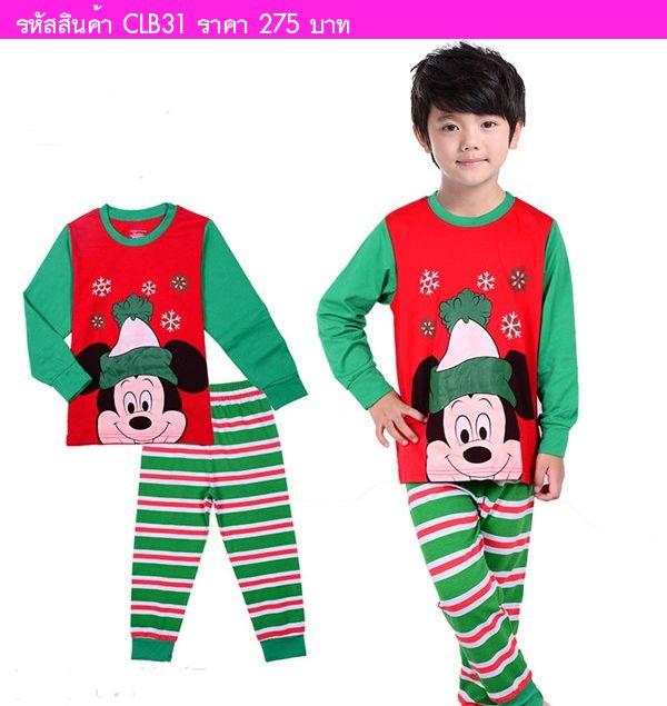 ชุดเด็ก xmas Mickey Mouse
