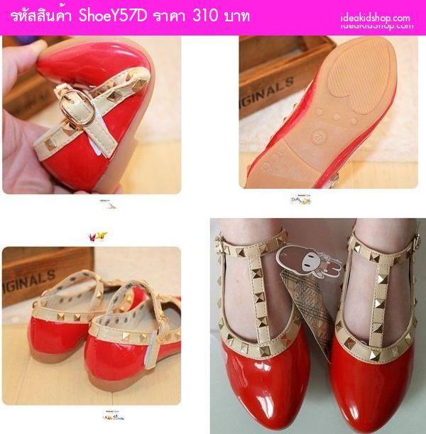 รองเท้าเด็ก สไตล์ Valentino kid V.2 สีขาว
