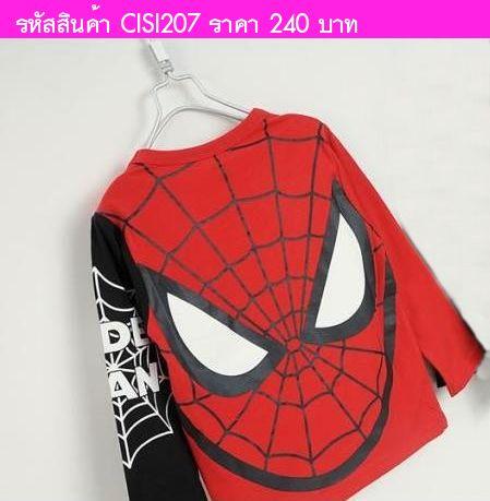 เสื้อยืด Spiderman Super Two-tone แดงดำ