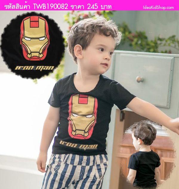 เสื้อยืดแขนสั้น Super Iron man สีดำ(ไต้หวัน)