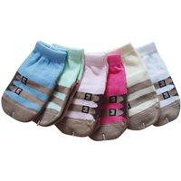 ถุงเท้าเด็กลายคาด-(แพค-6-คู่)