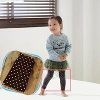 กางเกงเลกกิ้งเด็ก-Double-Dots-Cute-สีน้ำตาล