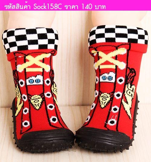 รองเท้าถุงเท้าผ้าใบ ลาย Car 95