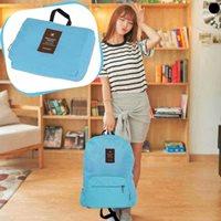กระเป๋าเป้สะพายหลัง-พับเก็บได้--TRAVEL-สีฟ้า