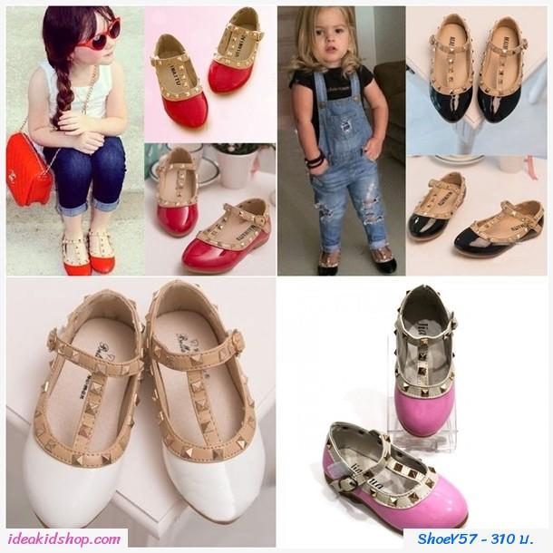 รองเท้าเด็ก สไตล์ Valentino kid V.2 สีชมพู