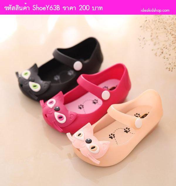 รองเท้าเด็ก แมวสไตล์ Mini Melissa Version 2 สีดำ