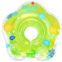 ห่วงคอว่ายน้ำเด็ก-ลายทะเล-สีเขียวอ่อน