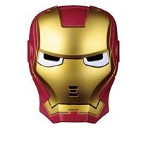 หน้ากากแฟนซี-3D-มีไฟ-Ironman-สีแดง