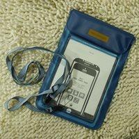 ซองซิปพลาสติกกันน้ำใส่มือถือ-Tablet-(ใหญ่)-สีฟ้า