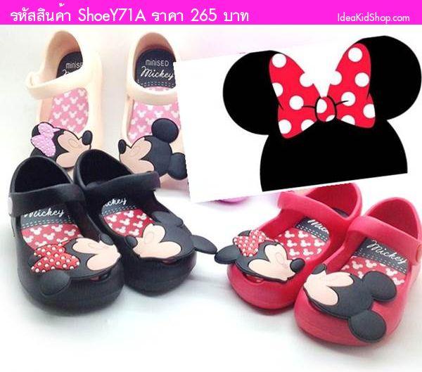 รองเท้าเด็ก Minnie สไตล์ Mini Melissa สีแดง
