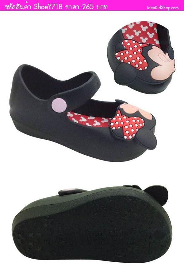 รองเท้าเด็ก Minnie สไตล์ Mini Melissa สีดำ
