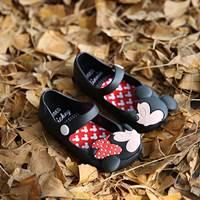 รองเท้าเด็ก-Minnie-สไตล์-Mini-Melissa-สีดำ