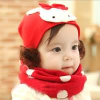 หมวกกระต่ายน้อยโบว์น้อย-ปอยผม-สีแดง
