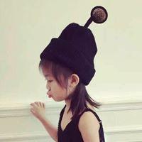 หมวกไหมพรม-ทรงสูง-สีดำ