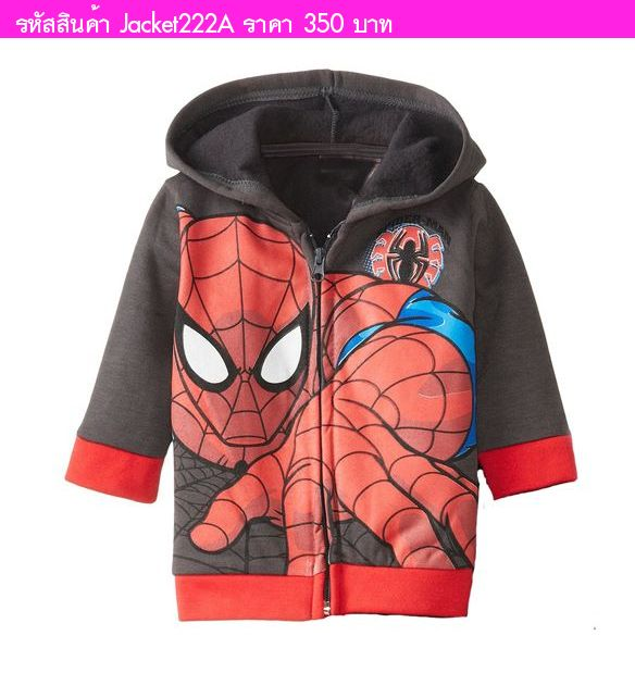 เสื้อแขนยาวพร้อมฮูด Spider Man