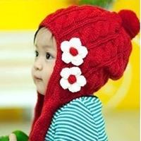หมวกไหมพรม-มองโกเลีย-สีแดง