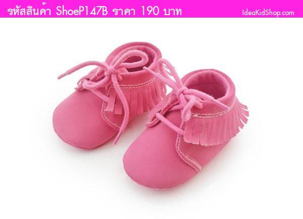 รองเท้าหัดเดิน สไตล์บูท สีชมพู