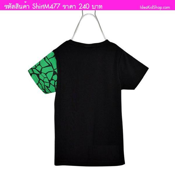 เสื้อยืดนินจาเต่า สีดำ