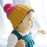 หมวกไหมพรม-ทูโทน-สีเหลือง-ชมพู