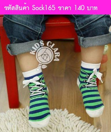 ถุงเท้า Costume ลายรองเท้าผูกเชือก(ได้ 2 คู่)