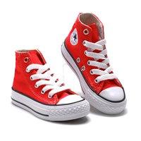รองเท้าผ้าใบหุ้มข้อ-สไตล์-Converse-สีแดงขาว
