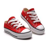 รองเท้าผ้าใบหุ้มส้น-Converse-สไตล์ชมพู่-สีแดง