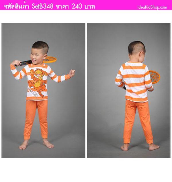 ชุดเสื้อ+กางเกง TIGGER สีส้ม