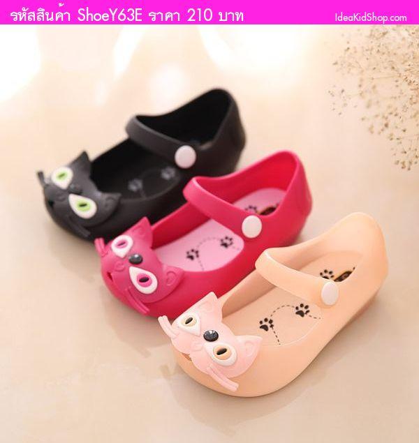รองเท้าเด็กแมวสไตล์ Mini Melissa Ver 2 สีโอรส