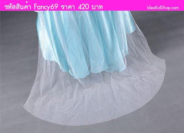ชุดเดรสเจ้าหญิงแสนสวย Frozen สีฟ้าขาว