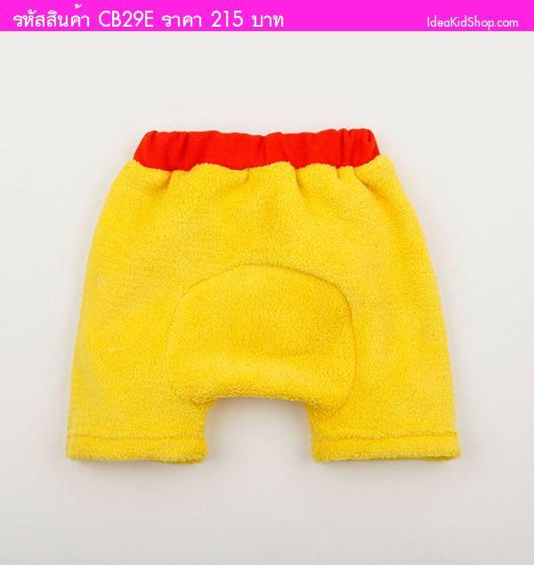 กางเกงขาสั้นผ้าขนหนู Pooh Pooh สีเหลือง
