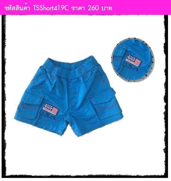 กางเกงขาสั้น ธงชาติ USA สีฟ้าเข้ม